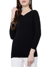 black viscose regular top -  online shopping for Tops