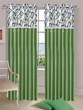 Stella Creations Polyester Pista Designer Eyelet Door Curtains (4x7 Feet) -Set Of 2 - By