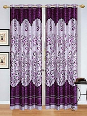 Stella Creations Polyester Purple Designer Eyelet Door Curtains (4x7 Feet) -Set Of 5 - By