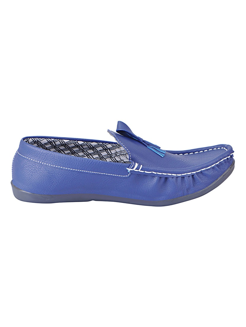 aff97a15d2b Buy Blue Leatherette Slip On Loafer by Fausto - Online shopping for Loafers  in India