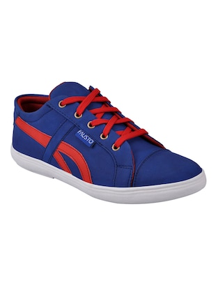 d52fe84f92e Buy Blue Leatherette Lace Up Sneaker for Men from Fausto for ₹708 at 29%  off