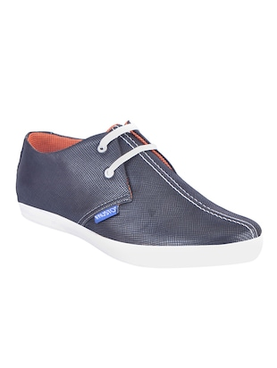 fb8cf327129 Buy Blue Leatherette Lace Up Sneakers for Men from Fausto for ₹699 at 0%  off