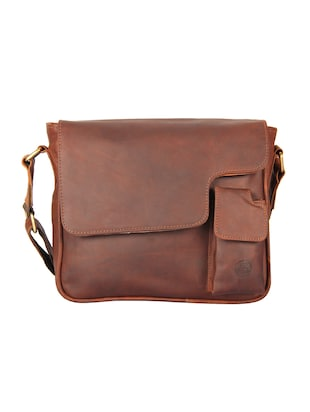brown leather slingbag -  online shopping for messengerbags
