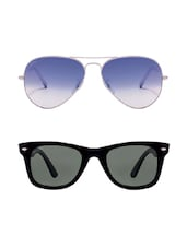Being Adam Uv Protected Aviator & Wayfarer Combo Of Set 2 Unisex Sunglasses -  online shopping for Sunglasses