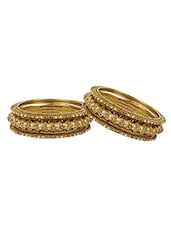 Gold Metal Bangle - By
