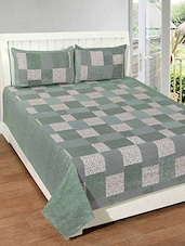 Flossy Cotton Geometric Printed Double Bedsheet Set -  online shopping for bed sheet sets