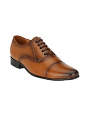 tan Leather lace-up oxford -  online shopping for Oxfords