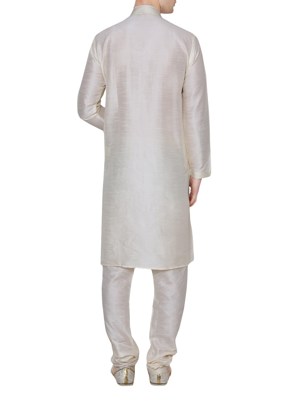 Buy Solid Cream Silk Blend Kurta Pyjama Set by Royal Kurta - Online  shopping for Ethnic Wear Sets in India  d7152f129