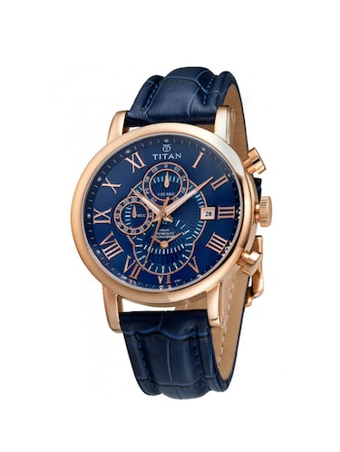 TITAN Blue Dial Chronograph Watch For Men - 9234WL02 - 13892059 - Standard Image - 1
