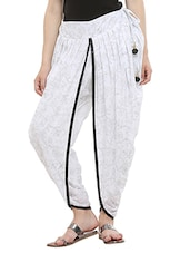 KAANCHIE NANGGIA white cotton dhoti salwar -  online shopping for Salwars