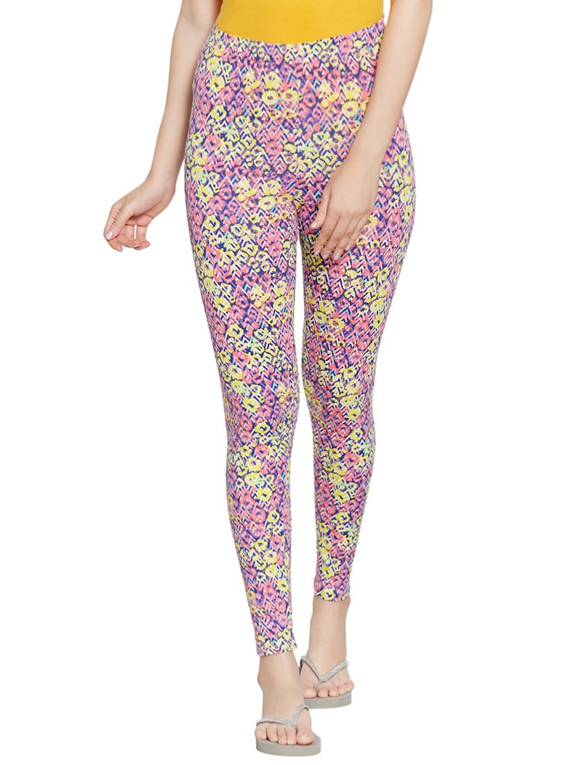 e37d99ca9429f9 Buy Printed Multi Colored Cotton Spandex Legging for Women from Blush for  ₹397 at 34% off | 2019 Limeroad.com