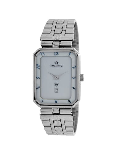 Maxima White Dial Analog Watch for Men - 07365CMGI - 13933221 - Standard Image - 1