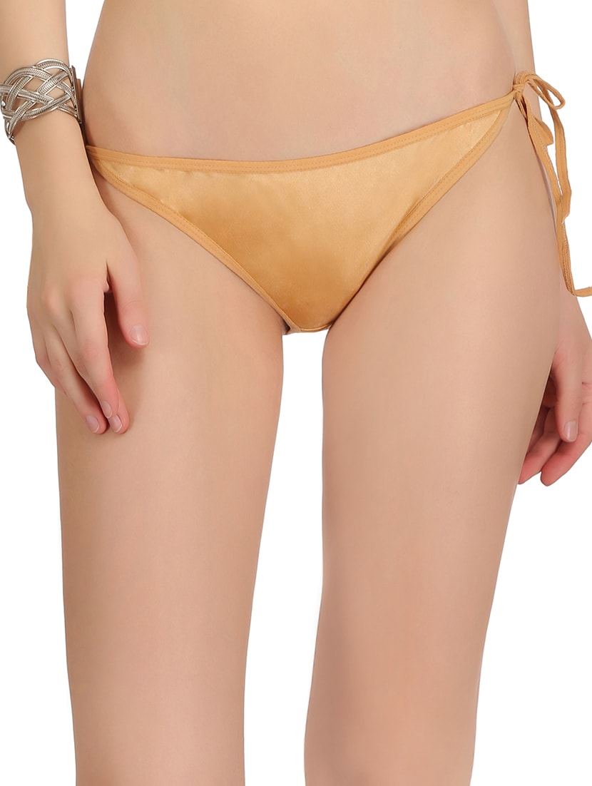 ab9a9d9e3a5 Buy Set Of 2 Gold Satin Panties for Women from Fashion Comfortz for ₹499 at  0% off