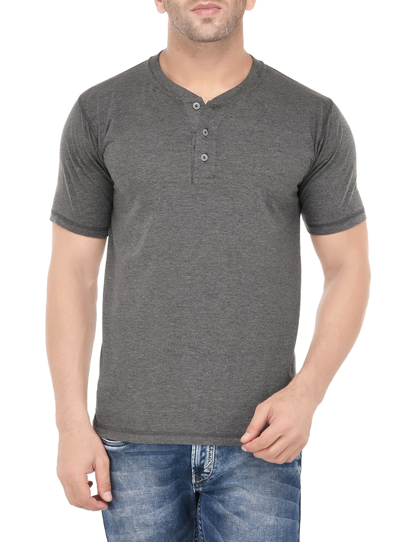 6ef370cbaf5 Buy Grey Cotton T-shirt by Weardo - Online shopping for T-shirts in India
