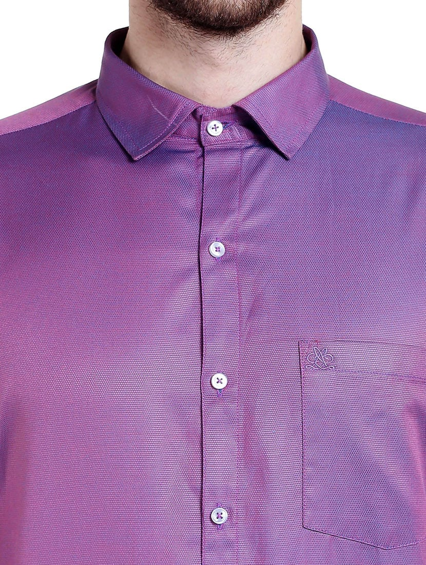 e0fec7b3 Buy Purple Cotton Casual Shirt for Men from Lisova for ₹810 at 55 ...