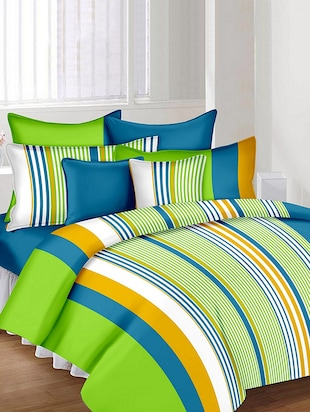 The Divine 100% Cotton Printed Double Bed Sheet With 2 Pillow Covers -  online shopping for bed sheet sets