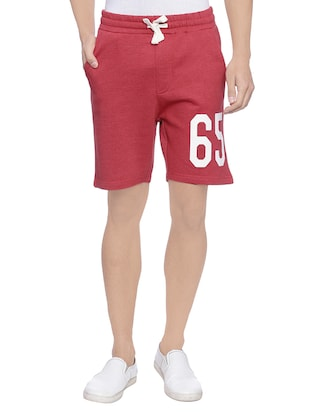 red cotton short -  online shopping for Shorts
