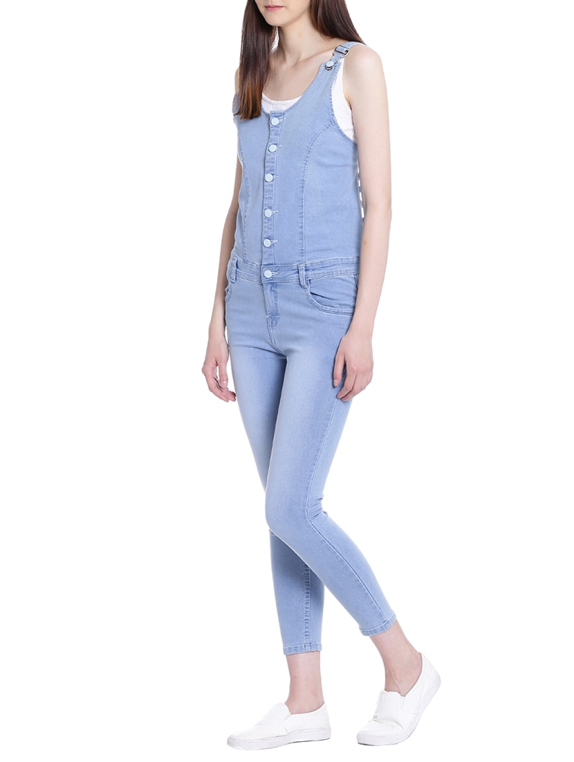 9d03bf7750d Buy Stone Washed Button Detail Dungaree for Women from Broadstar for ₹987 at  62% off