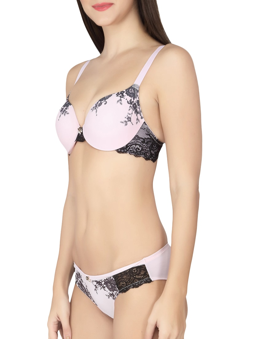 6b68154d29ccb Buy Light Pink Bra And Panty Set by Soie - Online shopping for Bras And  Panty Set in India