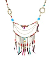 multi colored metal tribal necklace -  online shopping for Necklaces