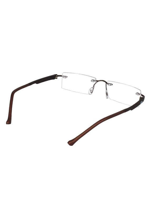 7eb2f19fd5b Buy Zyaden Rectangluar Rimless Eyewear Frame 100 by Zyaden - Online  shopping for Men Spectacle Frames in India