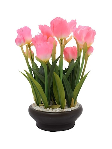 Buy Online Fourwalls Premium Range Artificial Tulip Plant With Ceramic Vase 26 Cm Tall From Vases Flowers For Unisex By Fourwalls For 1252 At 42 Off 2020 Limeroad Com