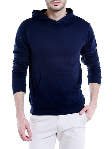 solid navy blue cotton sweatshirt - 14010515 - Standard Image - 1