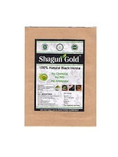 Shagun Gold Hair Colour Black Henna 200g - By