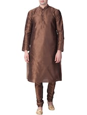 brown dupion ethnic wear set -  online shopping for ethnic wear sets