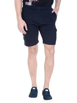 navy blue cotton short -  online shopping for Shorts