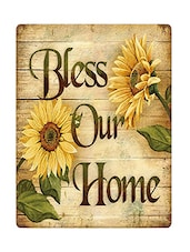 Sehaz Artworks BlessOurHome Wooden Wall Sign -  online shopping for Wall Hanging