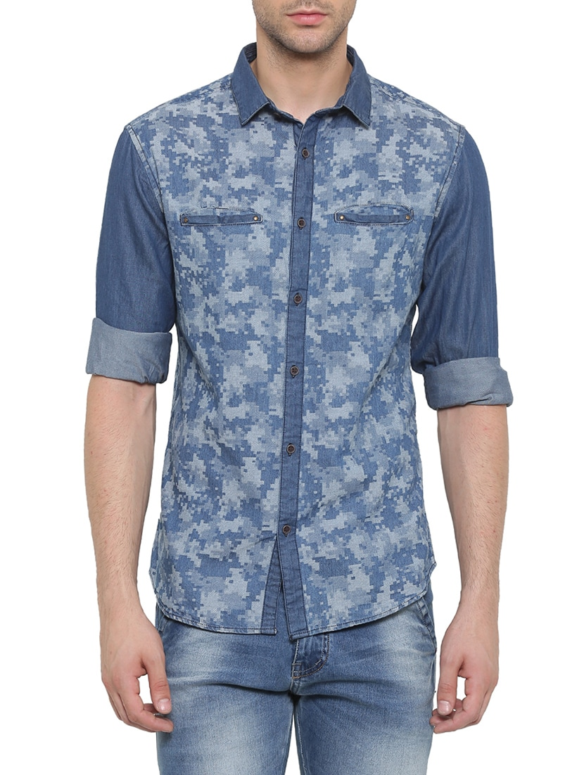 42eb8b6c4 Buy Blue Denim Casual Shirt for Men from Showoff for ₹933 at 56% off