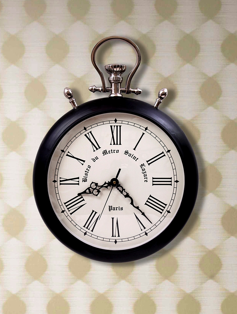 Buy Vintage Metal Pocket Watch Designed Wall Clock By Home Sparkle