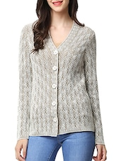 beige acrylic cardigan -  online shopping for Cardigans
