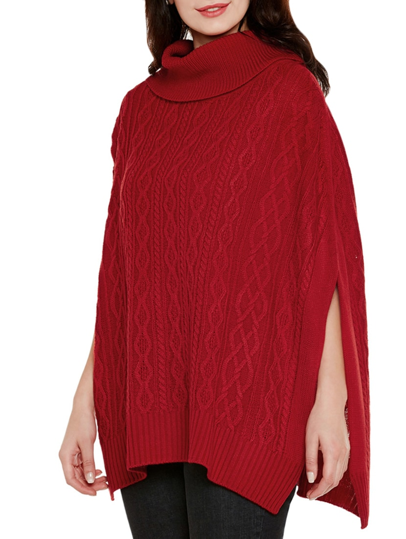 f101db290f Buy Red Wool Poncho for Women from Cayman for ₹800 at 65% off ...