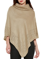 beige wool poncho -  online shopping for Ponchos