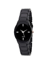 Fashion Jagat Black Color Analog watch -  online shopping for Wrist watches