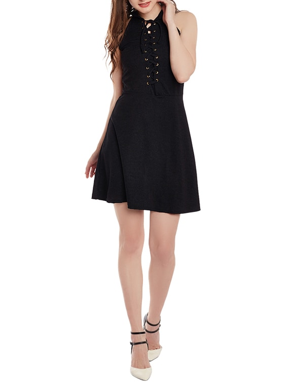 Buy Black Viscose Skater Dress by Ants - Online shopping for Dresses in  India   14110046
