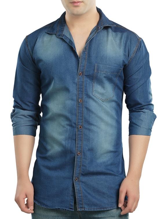 6babfe9ba71 Buy Light Blue Denim Casual Shirt for Men from Copper Line for ₹672 at 66%  off