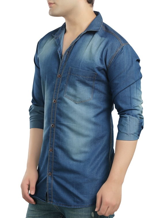c6237cb1b11 Buy Light Blue Denim Casual Shirt for Men from Copper Line for ₹535 at 73%  off