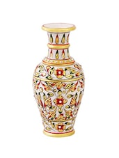315a85d7200b Flower pot with emboss painting on Marble by Handicrafts Paradise - online  shopping for Vases