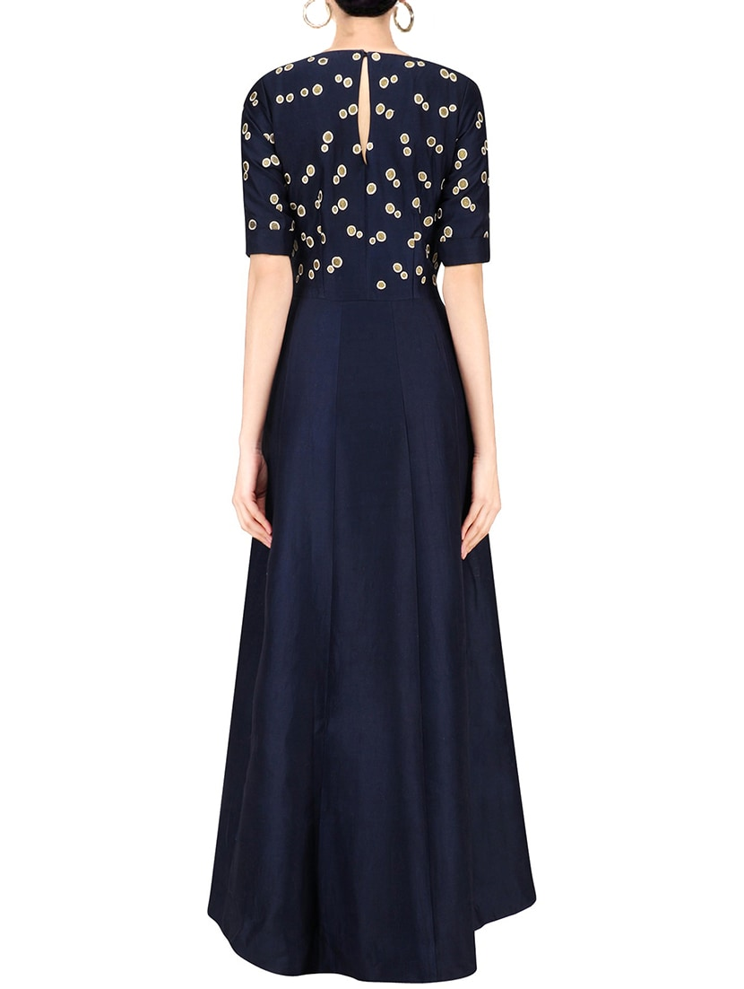 b5addd74507 Buy Navy Blue Silk Blend A-line Gown for Women from Greenvilla Designs for  ₹1200 at 60% off