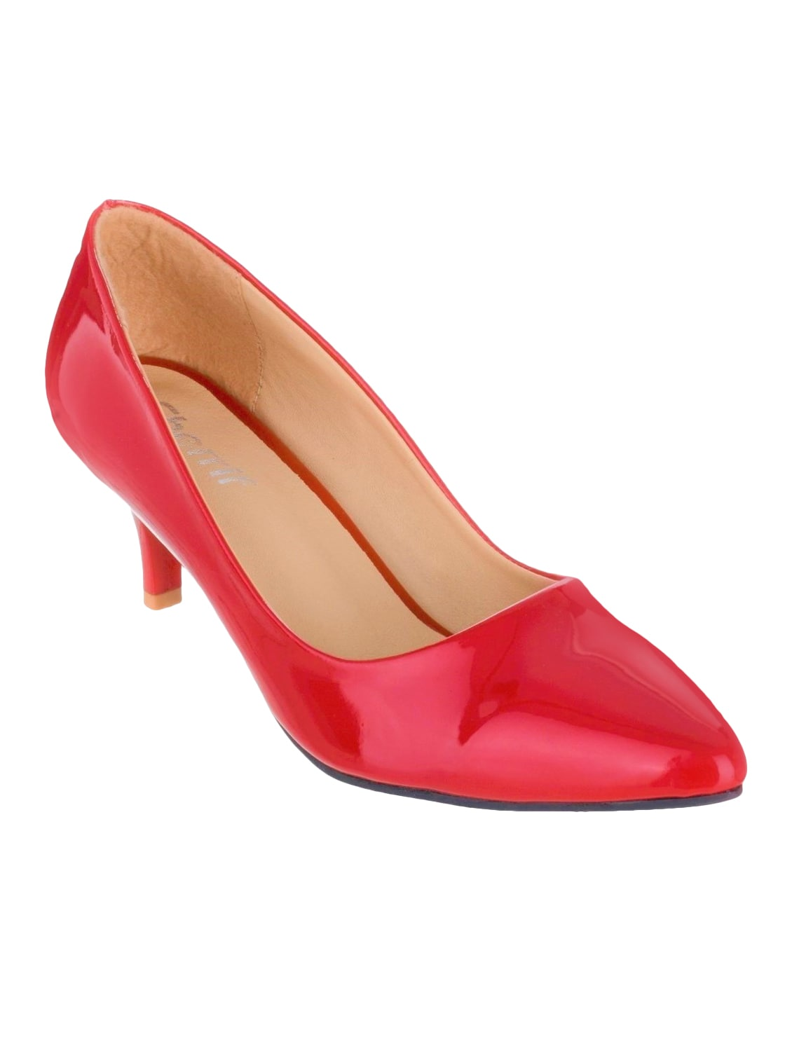d0898c69591 Buy Red Faux Leather Slip On Pumps by Sherrif Shoes - Online shopping for  Pumps in India