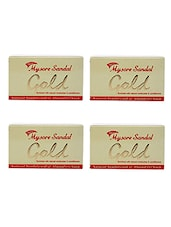 Mysore Sandal Gold Soap, 125 Grams (Pack Of 4) - By