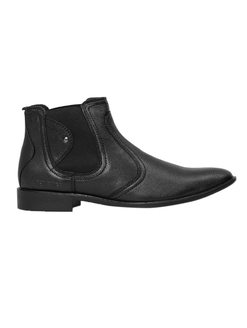 f69f951c2ca black Leather slip on boots