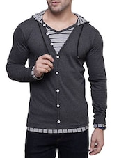 grey cotton cardigan -  online shopping for Cardigans