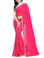pink bordered saree -  online shopping for Sarees