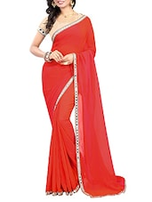 peach bordered saree -  online shopping for Sarees