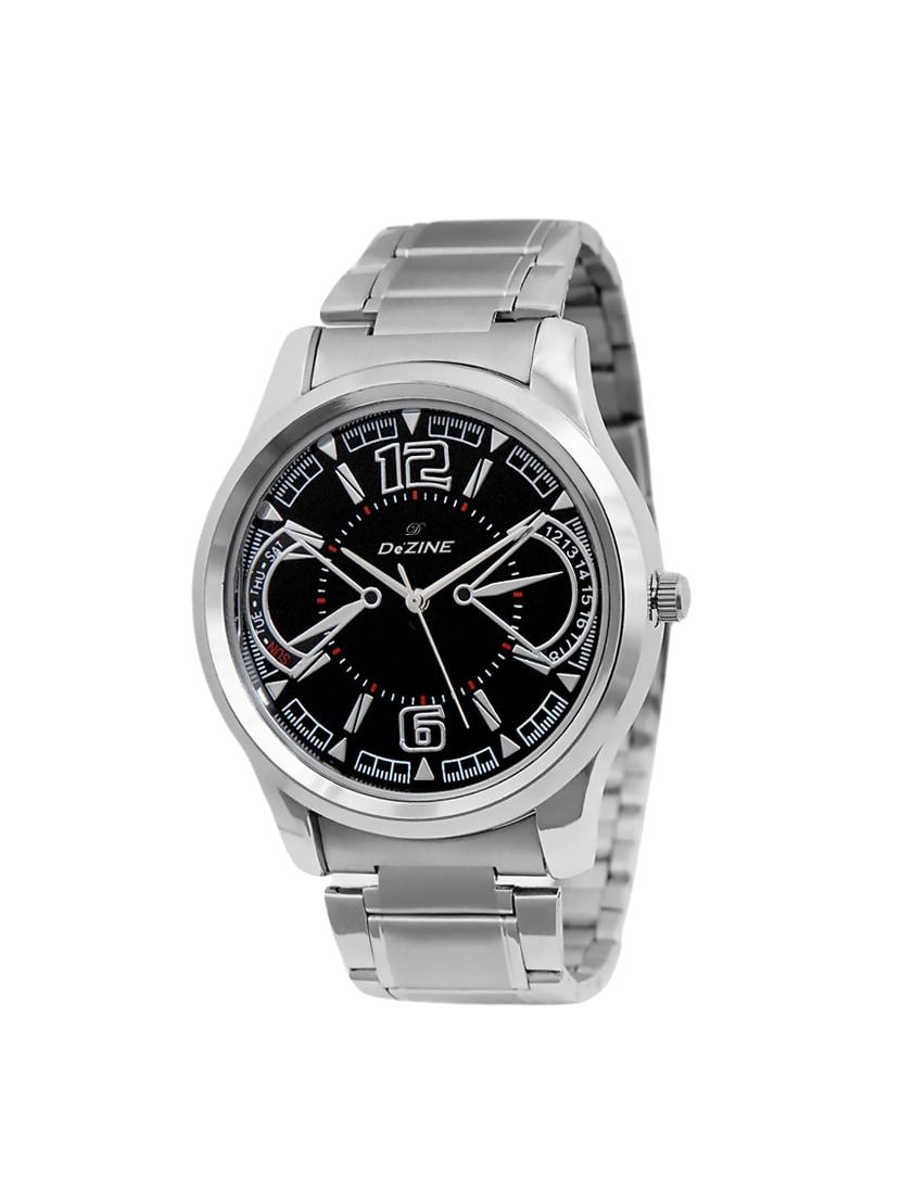dezine stainless steel analog watch for men