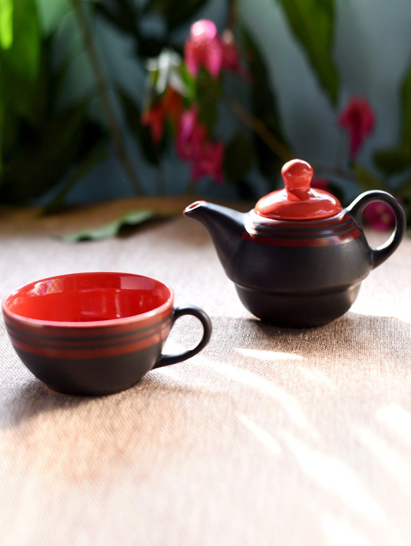 ceramic single tea pot set